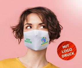 Masken mit Logo Behelfsmasken bedrucken Communitymaske mit Digitaldruck VEN-QDA waschbar