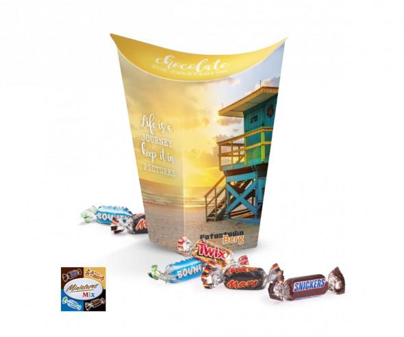 Miniatures Mix Cup Box 80g incl. Druck Werbepräsent