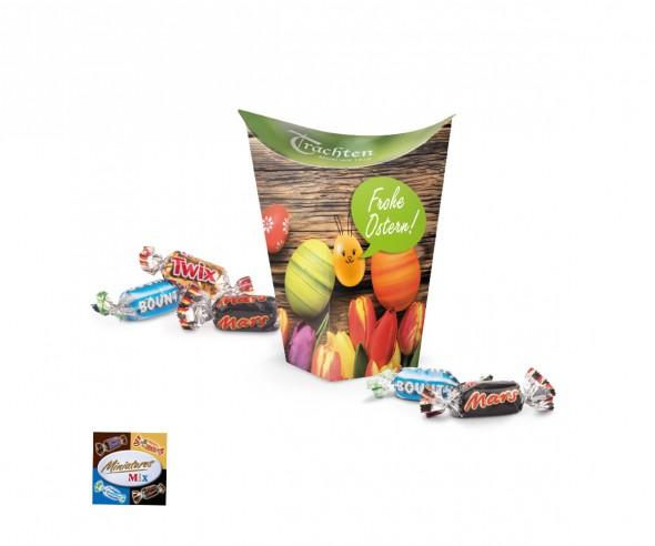 Miniatures Mix Cup Box Ostern 80g incl. Druck Werbepräsent