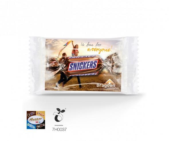 Miniatures Mix im Werbeträger mit Logo bedrucken