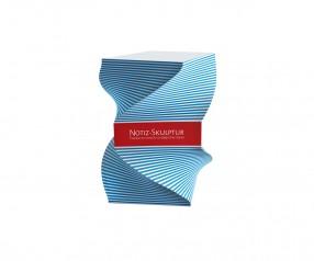 KARL KNAUER Skulpturquader Form 4 Design Notizblock als Werbeartikel