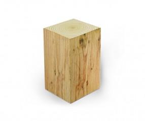 KARL KNAUER 78x78x125 mm Notizquader Design Edition Holz mit Druck als Werbeartikel