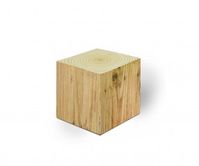 KARL KNAUER 68x68x68 mm Notizquader Design Edition Holz mit Druck als Werbeartikel