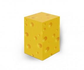 KARL KNAUER 78x78x125 mm Notizquader Design Edition Käse individuell gestalten