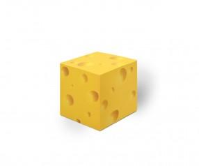 KARL KNAUER 68x68x68 mm Notizquader Design Edition Käse mit Druck