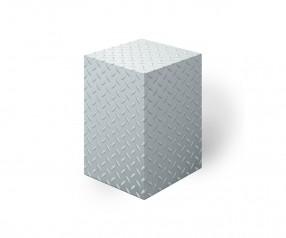 KARL KNAUER 78x78x125 mm Notizquader Design Edition Riffelblech als Werbeartikel