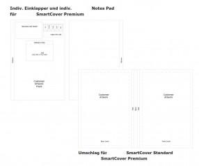 Xtra SmartCover DIN A5 Notizbuch mit Haftnotizen inkl. Druck
