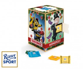 Adventskalender Werbeartikel Tower Ritter Sport Quadretties