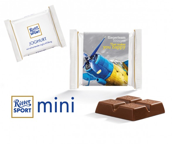 Ritter Sport Mini Joghurt mit Werbebanderole incl. Druck als Giveaway