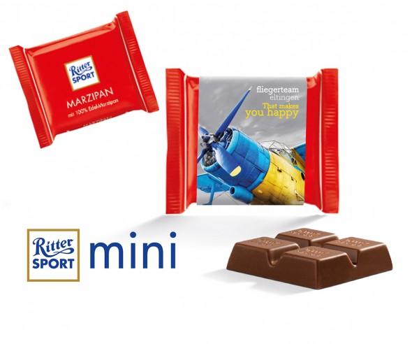 Ritter Sport Mini Marzipan mit Werbebanderole incl. Druck als Werbemittel