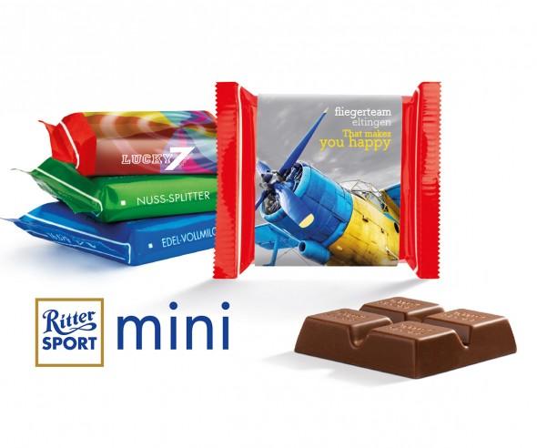 Ritter Sport Mini Mix mit Werbebanderole incl. Druck als Werbeartikel