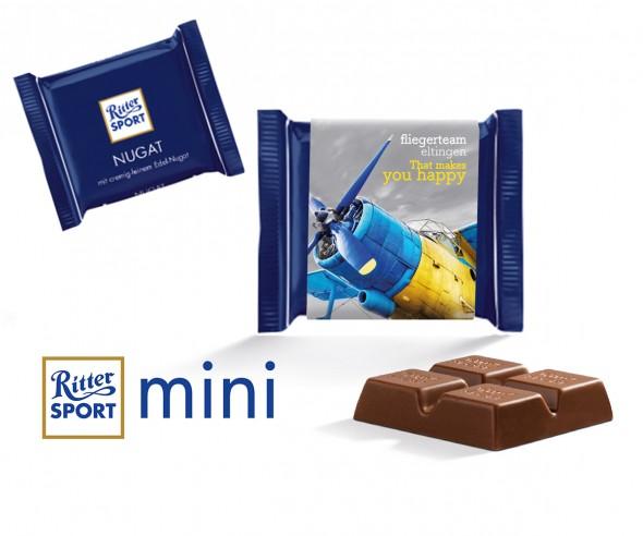 Ritter Sport Mini Nugat mit Werbebanderole incl. Druck als Streuartikel
