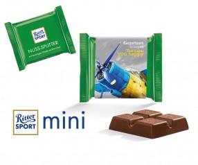 Ritter Sport Mini Nuss-Splitter mit Werbebanderole incl. Druck als Werbegeschenk