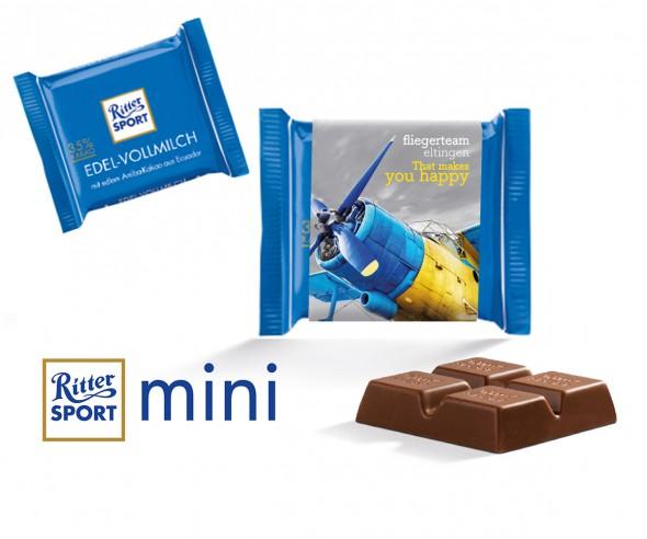 Ritter Sport Mini Vollmilch mit Werbebanderole incl. Druck als Werbepräsent