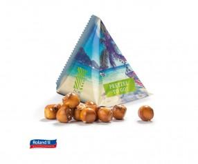 Roland Pretzel Balls im Tetraeder Werbeartikel bedruckt