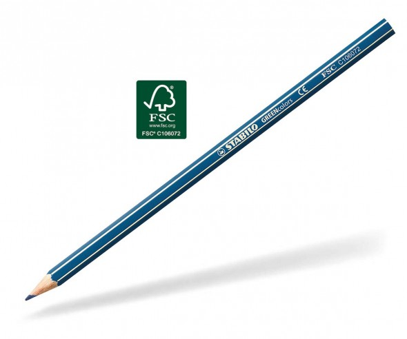 STABILO GREENcolors Buntstift Holz-Farbstift 6-kant dunkelblau