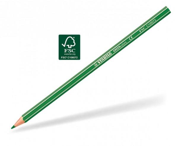 STABILO GREENcolors Buntstift Holz-Farbstift 6-kant laubgrün