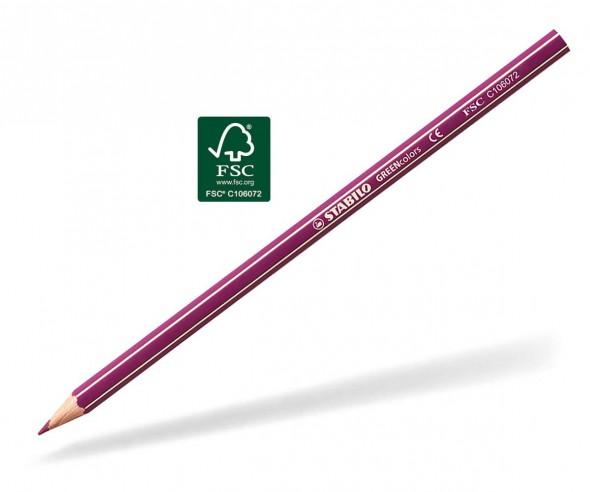 STABILO GREENcolors Buntstift Holz-Farbstift 6-kant rotviolett