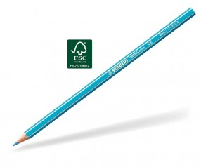 STABILO GREENcolors Buntstift Holz-Farbstift 6-kant himmelblau
