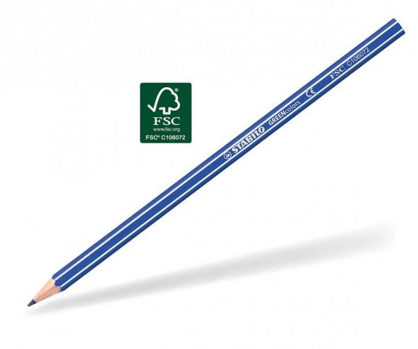 STABILO GREENcolors Buntstift Holz-Farbstift 6-kant ultramarinblau