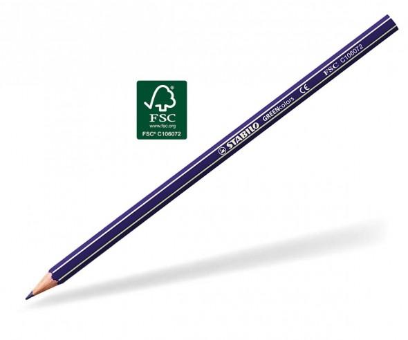 STABILO GREENcolors Buntstift Holz-Farbstift 6-kant violett