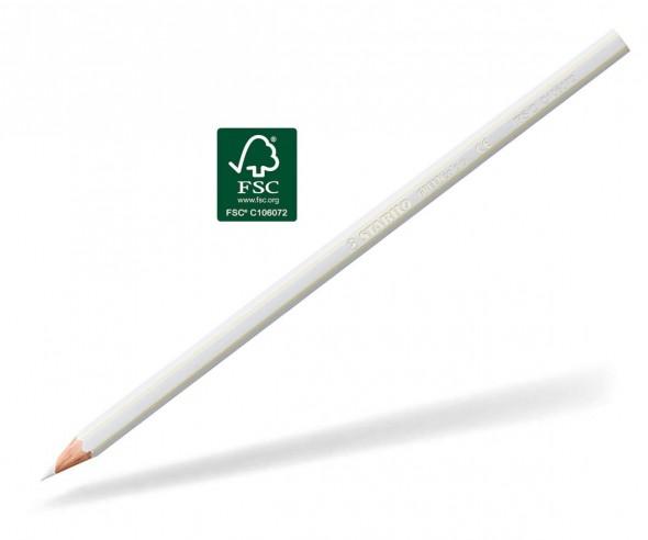 STABILO GREENcolors Buntstift Holz-Farbstift 6-kant weiss