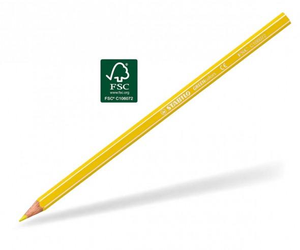 STABILO GREENcolors Buntstift Holz-Farbstift 6-kant gelb