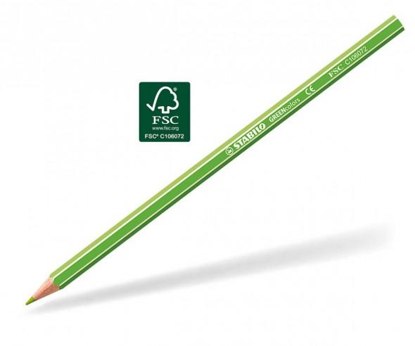 STABILO GREENcolors Buntstift Holz-Farbstift 6-kant gelbgrün