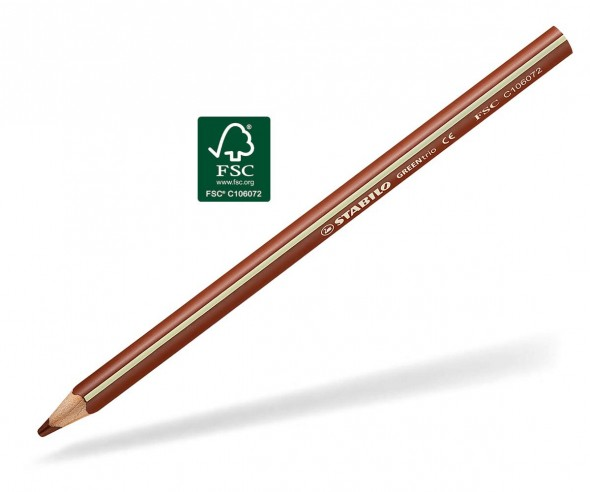 STABILO GREENtrio Buntstift Holz-Farbstift 3-kant ocker
