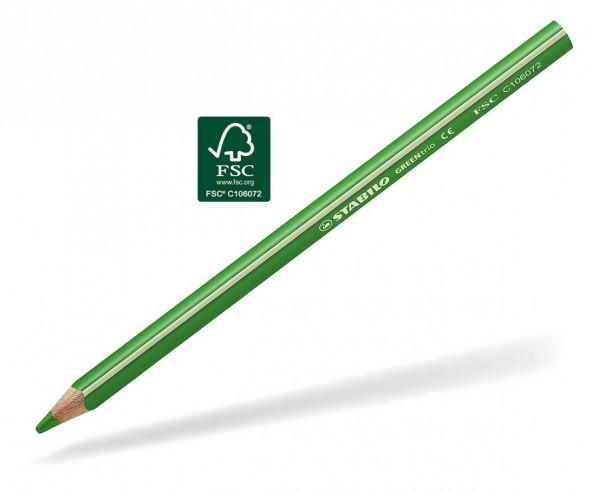 STABILO GREENtrio Buntstift Holz-Farbstift 3-kant gelbgrün