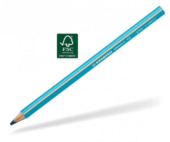STABILO GREENtrio Buntstift Holz-Farbstift 3-kant himmelblau