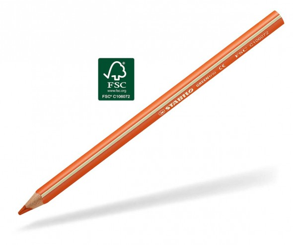 STABILO GREENtrio Buntstift Holz-Farbstift 3-kant orange