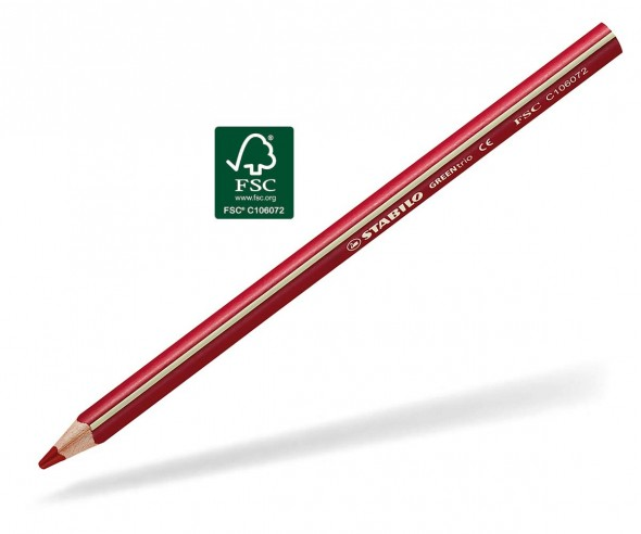 STABILO GREENtrio Buntstift Holz-Farbstift 3-kant permanentrot