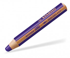 STABILO Woody 3in1-Buntstift multifunktional violett