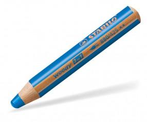 STABILO Woody 3in1 Holzmalstifte multifunktional mittelblau