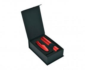 Schwarzwolf ALBERO rot Set aus Messer und Taschenlampe F2100103AJ3