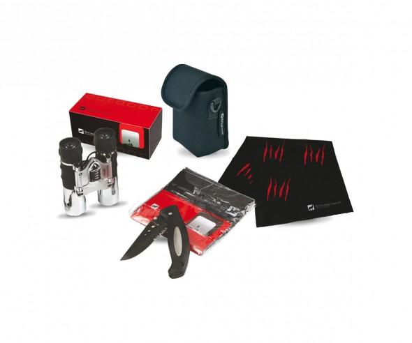 Schwarzwolf CROSSET Outdoor-Set mit Fernglas, Bandana und Taschenmesser F4800300SA3