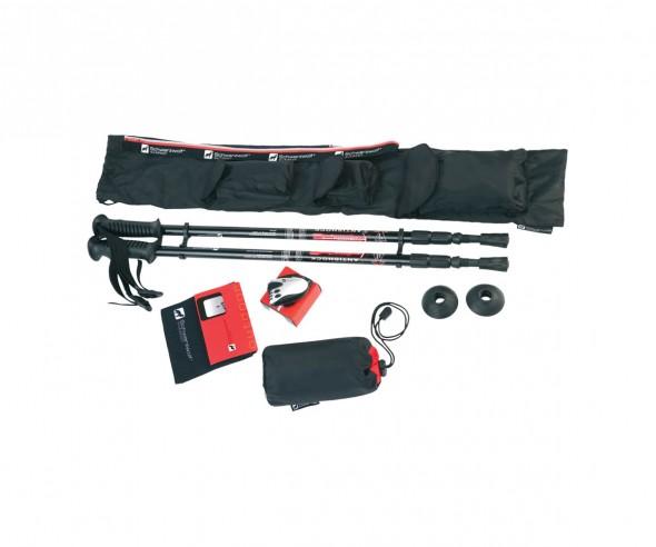 Schwarzwolf ZENITH Outdoor-Set mit Trekkingstöcken, Schrittzähler, Bandana und Handtuch F4800200SA3