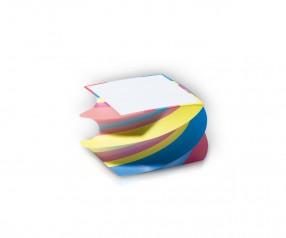KARL KNAUER 95x95x59 mm Spiralquader Design Notizblock inklusive 1-farbigem Druck