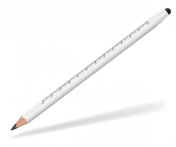 STAEDTLER Jumbo Bleistift 11920SKW Cm-Skala Touchpen weiss