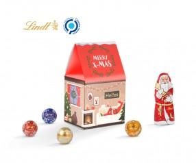 Standbodenbox Lindt Weihnachten als Werbeartikel mit Werbeanbringung