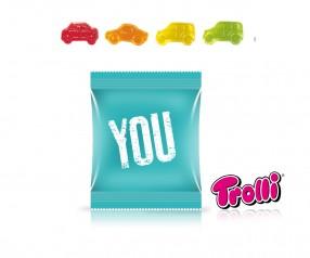 Trolli Fruchtgummi Minitüte Auto-Mix als Werbegeschenk