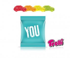 Trolli Fruchtgummi Minitüte Auto mit Werbeaufdruck