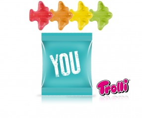 Trolli Fruchtgummi Minitüte Flugzeuge Werbepräsent