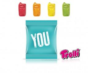 Trolli Fruchtgummi Minitüte Handy Streuartikel