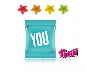 Trolli Fruchtgummi Minitüte Stern als Werbemittel