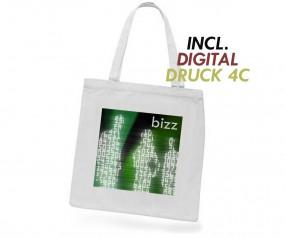 Baumwolltasche inklusive Digitaldruck kleine Mengen - Henkel lang