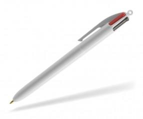BIC® 4 Colours 1100 Kugelschreiber mit 4 Minen und Logodruck weiss