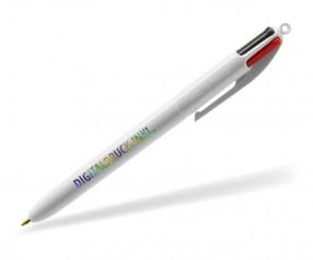 BIC® 4 Colours britePIX 1113 Kugelschreiber mit 4 Minen inklusive 4c-DIGITALDRUCK