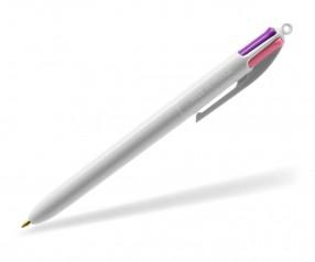 BIC® 4 Colours Fashion 1102 Kuli mit 4 trendigen Minenfarben - weiss